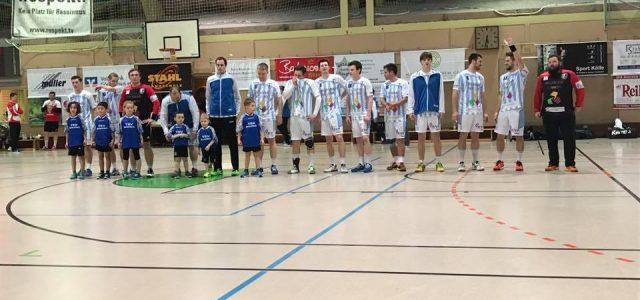 """Die """"Kleinsten"""" des TSV Bartenbach hatten ihren großen Auftritt. Am letzten Samstag durften die Minis, mit den Männer 1b, mit einlaufen."""