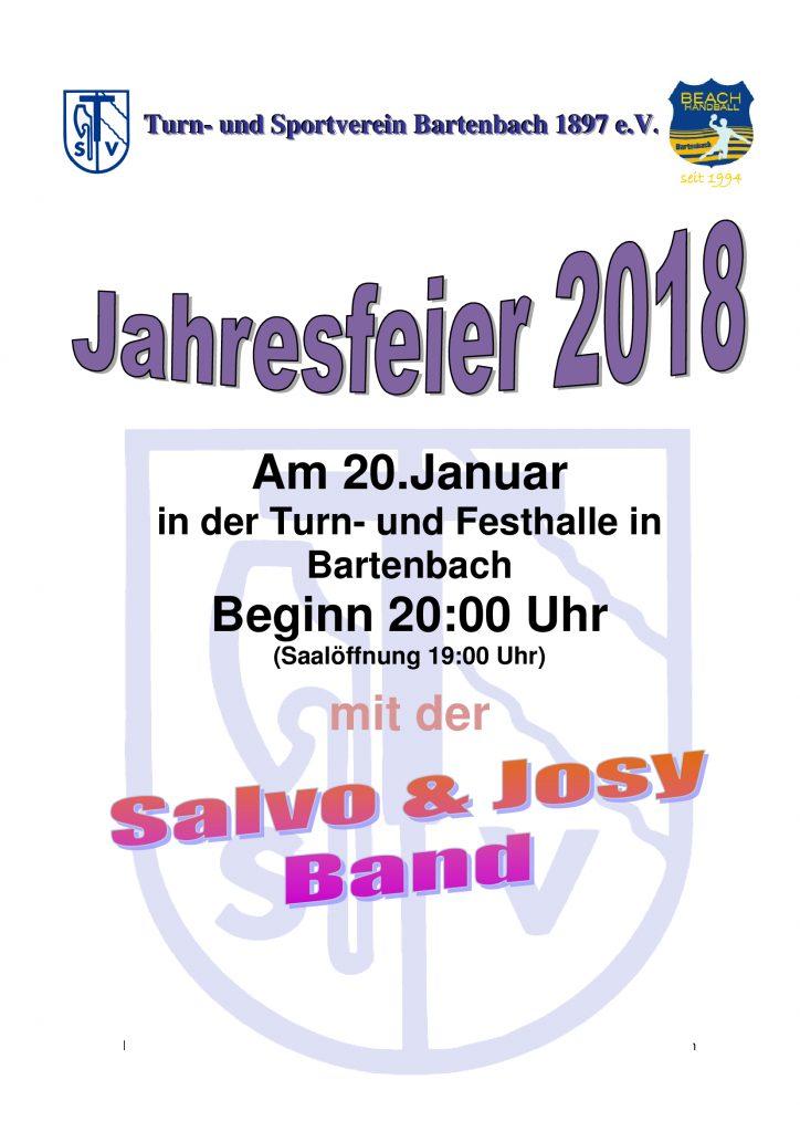 TSV Jahresfeier @ Turn- und Festhalle | Göppingen | Baden-Württemberg | Deutschland