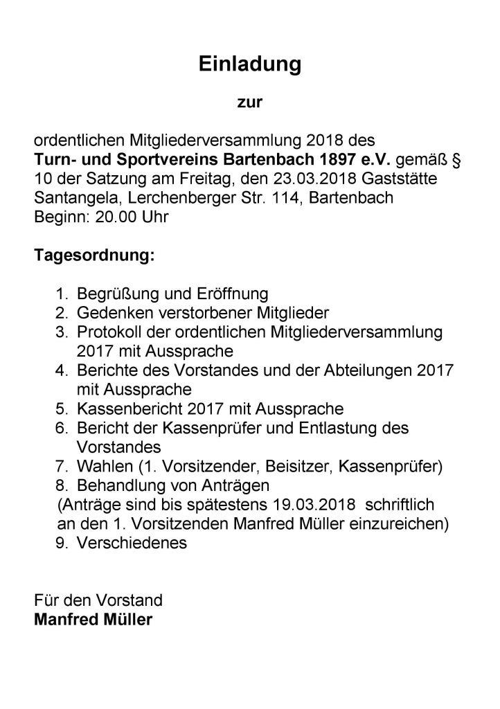 TSV-Hauptversammlung @ Clubhaus | Göppingen | Baden-Württemberg | Deutschland